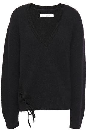 IRO Mylo lace-up alpaca-blend sweater