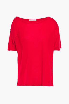 COTTON by AUTUMN CASHMERE Bow-detailed cashmere top
