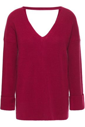 COTTON by AUTUMN CASHMERE Cutout lace-up cotton sweater
