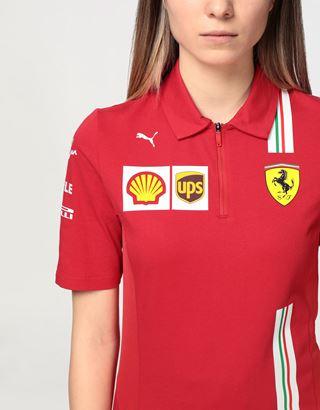 Scuderia Ferrari Online Store - Scuderia Ferrari 2020 Replica women's team polo shirt - Short Sleeve Polos