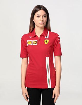 Scuderia Ferrari Online Store - Women's Scuderia Ferrari 2020 Replica team polo shirt - Short Sleeve Polos