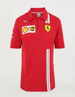 Scuderia Ferrari Online Store - Poloshirt Team Scuderia Ferrari Replica 2020 für Damen - Kurzärmelige Poloshirts
