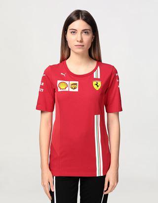 Scuderia Ferrari Online Store - Women's Scuderia Ferrari 2020 Replica team T-shirt - Short Sleeve T-Shirts