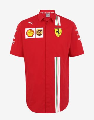 Scuderia Ferrari Online Store - Men's Scuderia Ferrari 2020 Replica team shirt - Short Sleeve Shirts
