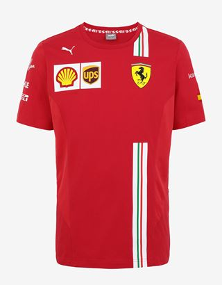 Scuderia Ferrari Online Store - Scuderia Ferrari 2020 Replica Vettel T-shirt - Short Sleeve T-Shirts