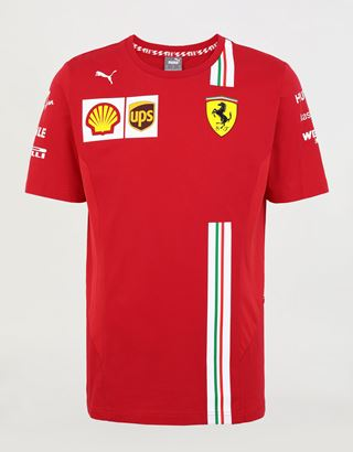 Scuderia Ferrari Online Store - Scuderia Ferrari 2020 Replica Leclerc T-shirt - Short Sleeve T-Shirts