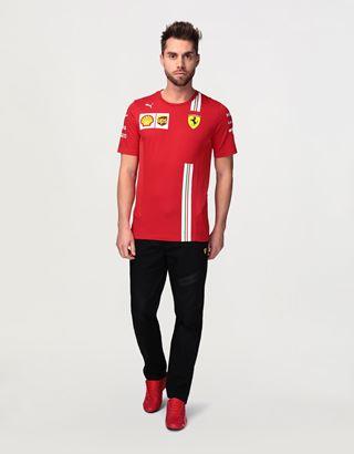 Scuderia Ferrari Online Store - Men's Scuderia Ferrari 2020 Replica team t-shirt - Short Sleeve T-Shirts