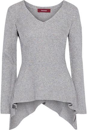 SIES MARJAN Grace asymmetric mélange ribbed-knit sweater