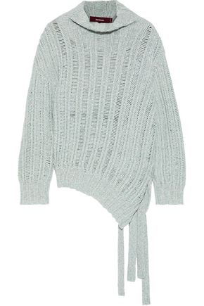 SIES MARJAN Nancy mélange ribbed cashmere and wool-blend sweater