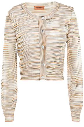 MISSONI Cropped crochet-knit cardigan