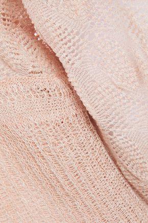 MISSONI Crochet-knit linen and cotton-blend cardigan