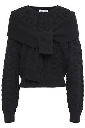 CARVEN Tie-front cotton-blend sweater