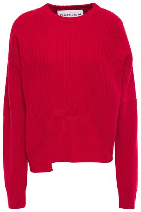 CARVEN Asymmetric wool and cashmere-blend sweater