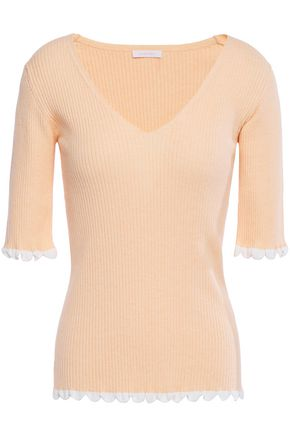 SEE BY CHLOÉ Ribbed cotton-blend top