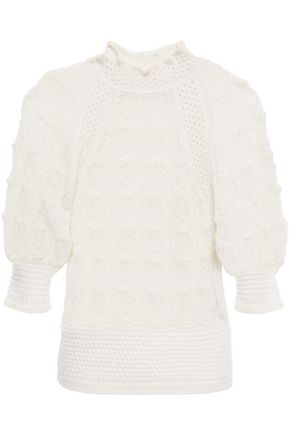 SEE BY CHLOÉ Pointelle-knit alpaca-blend top