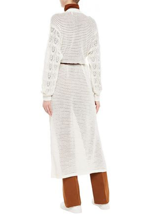 SEE BY CHLOÉ Pointelle-knit alpaca-blend cardigan