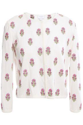 GIAMBATTISTA VALLI Embroidered cashmere and silk-blend cardigan