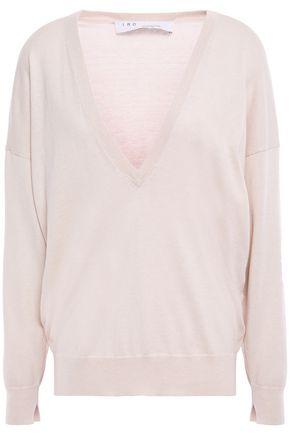 IRO Gathered silk and cotton-blend sweater