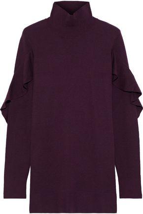 ELIE TAHARI Kacey ruffle-trimmed merino wool turtleneck sweater