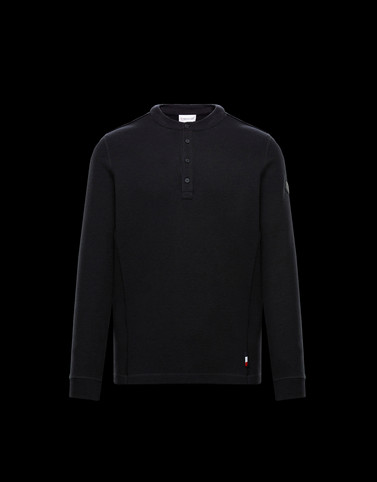 LONG-SLEEVED T-SHIRT Black Knitwear & Sweatshirts Man