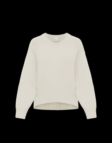 CREWNECK White Knitwear Woman