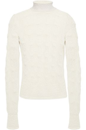 SEE BY CHLOÉ Pointelle-knit alpaca-blend sweater