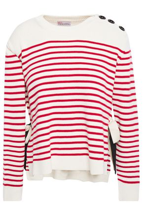 REDValentino Striped cotton sweater