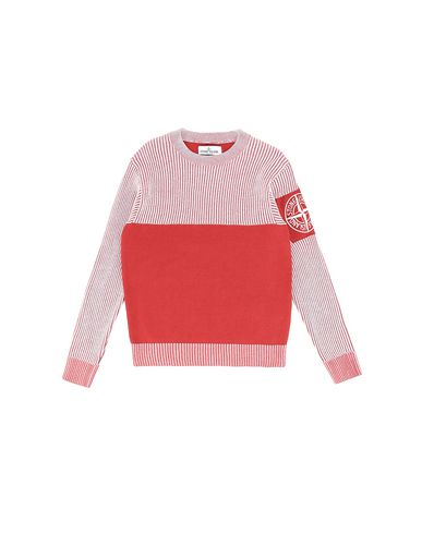 STONE ISLAND JUNIOR 510D1 Sweater Man Brick red USD 133