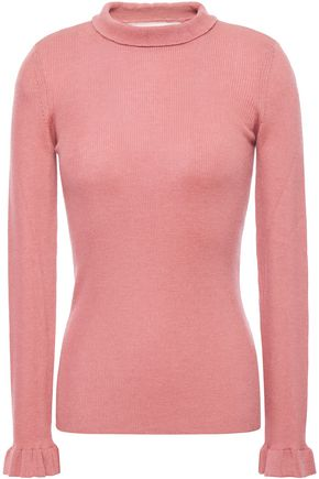 REDValentino Ribbed cashmere and silk-blend sweater