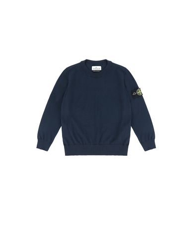 STONE ISLAND KIDS 502A4 Sweater Man Blue USD 83
