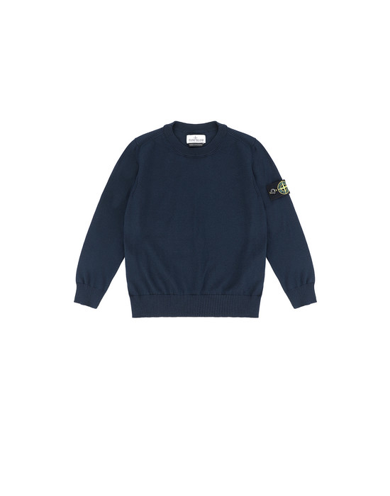 STONE ISLAND KIDS 502A4 Sweater Man Blue