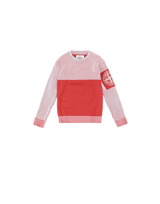 STONE ISLAND KIDS 510D1 Sweater Man Brick red