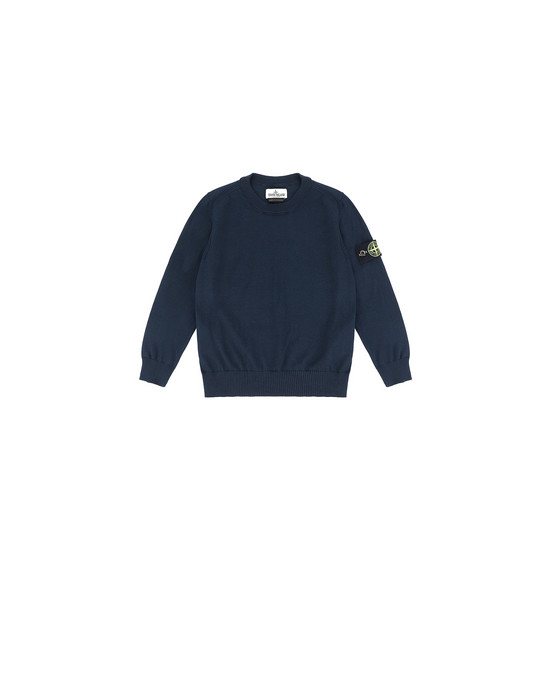 STONE ISLAND BABY 502A4 Sweater Man Blue
