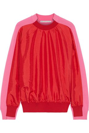 STELLA McCARTNEY Crinkled shell-paneled wool sweater