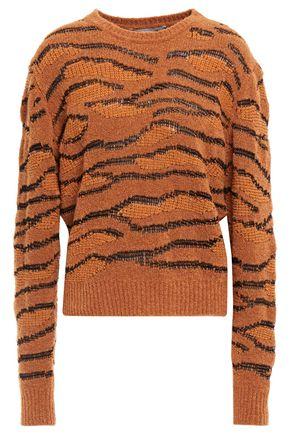 STELLA McCARTNEY Wool-blend bouclé and jacquard-knit sweater