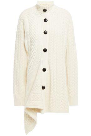 STELLA McCARTNEY Draped cable-knit wool and alpaca-blend cardigan