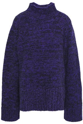 BY MALENE BIRGER Oversized mélange cotton-blend turtleneck sweater