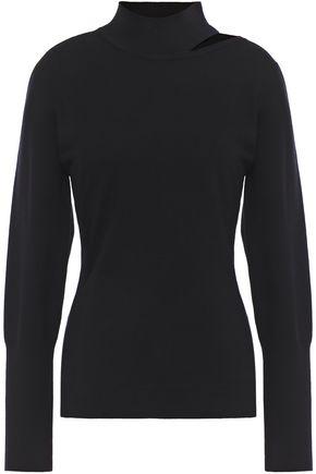 ELIE TAHARI Cutout wool-blend turtleneck sweater