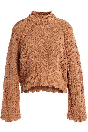 IRO Unctuous crocheted cotton sweater