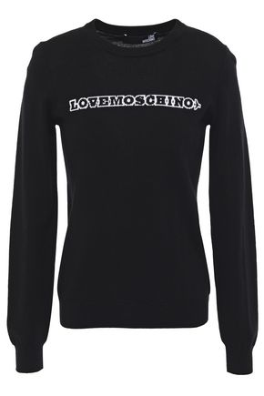 LOVE MOSCHINO Intarsia wool sweater