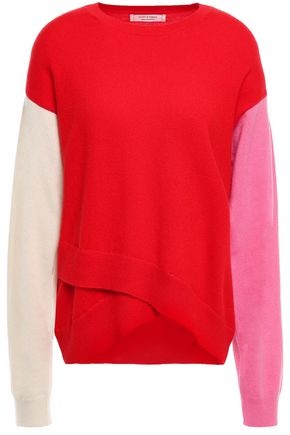 CHINTI & PARKER Layered color-block cashmere sweater