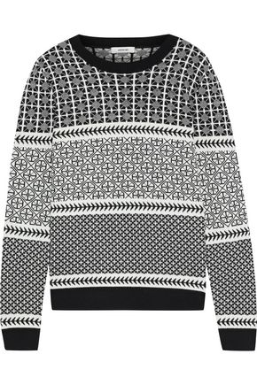 JASON WU Merino wool-blend jacquard sweater