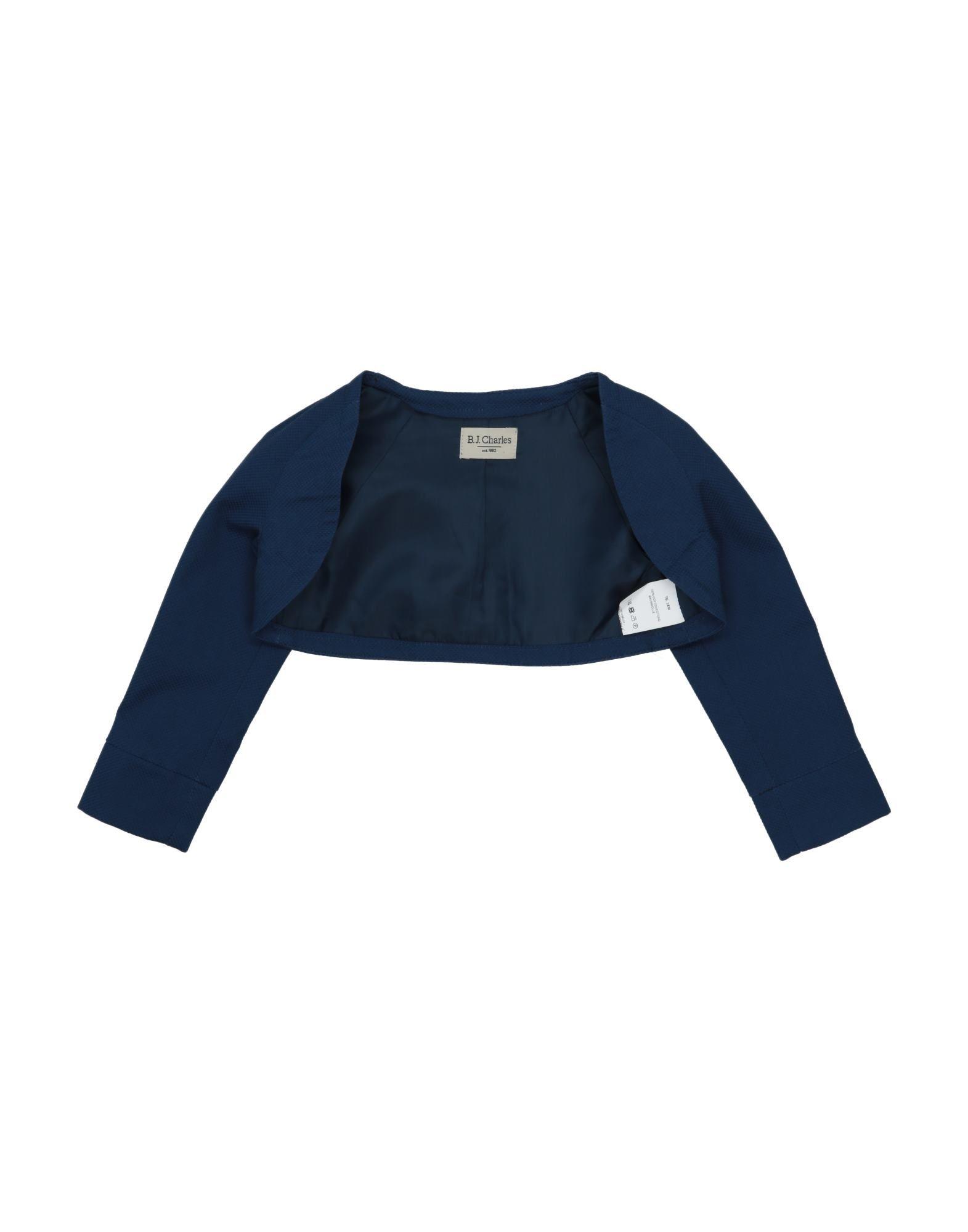 B.j.charles Kids' Wrap Cardigans In Blue