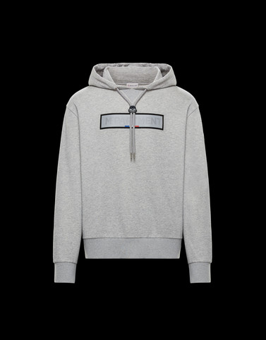 SWEATSHIRT Light grey Category HOODED SWEATSHIRTS Man