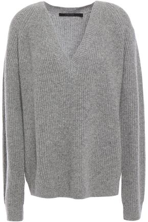 J BRAND Jayla ribbed mélange merino wool and cashmere-blend sweater
