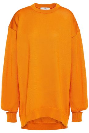 TIBI Oversized cutout knitted sweater