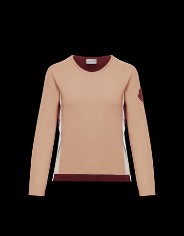 CREWNECK Beige Category Crewnecks Woman