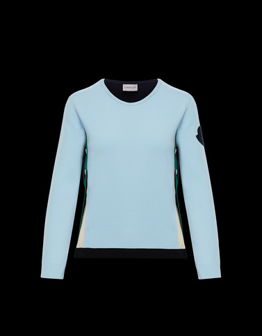 CREWNECK Light blue Knitwear Woman