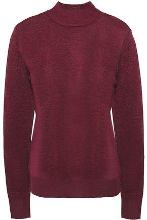 REBECCA MINKOFF Metallic knitted turtleneck sweater