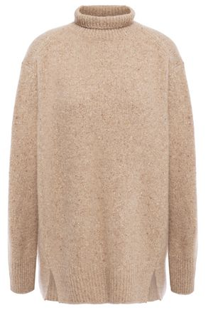 VINCE. Melangé cashmere turtleneck sweater